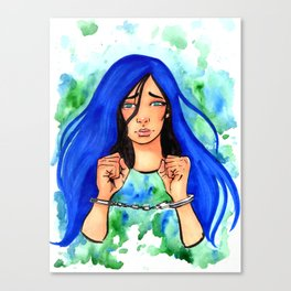 Bound Watercolor Painting by Grimmiechan Canvas Print