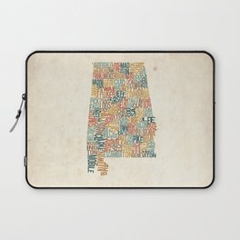Alabama by County Laptop Sleeve