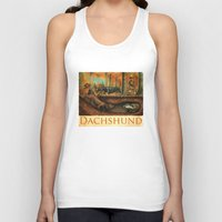 dachshund Tank Tops featuring Dachshund by Jeff Crosby