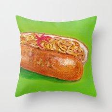 Yakisoba Dog Throw Pillow