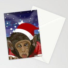 Christmas monkey Stationery Cards