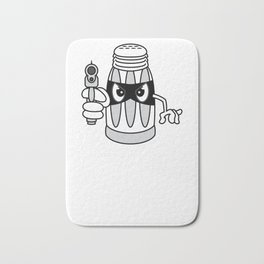"""""""A Salt With A Deadly Weapon"""" cute but stubborn tee design made perfectly for salt-tee lovers!  Bath Mat"""