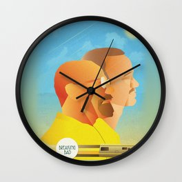 Breaking Bad Retro Design Graphic  Wall Clock