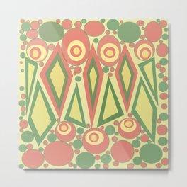 Green Red Modern Print Metal Print