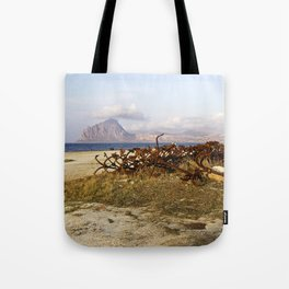 Sicilian Abandoned Port with Anchors Tote Bag