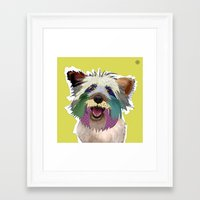 terrier Framed Art Prints featuring Terrier by TiannaHarman