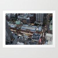 sydney Art Prints featuring Sydney  by Cynthia del Rio