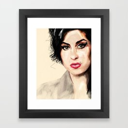 Amy - A tribute to Miss Winehouse Framed Art Print