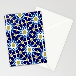 Blue & Green Mosaic Pattern Stationery Cards
