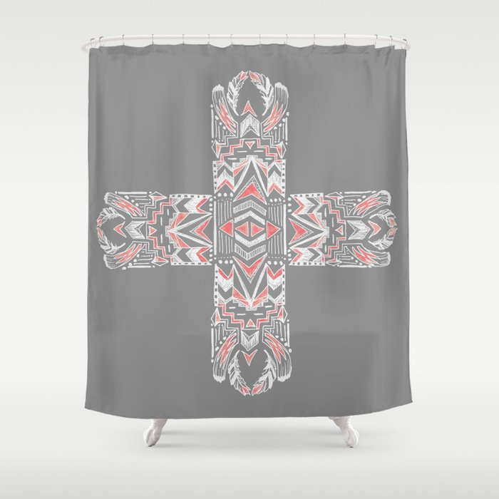 Pocatiki Tribe Shower Curtain
