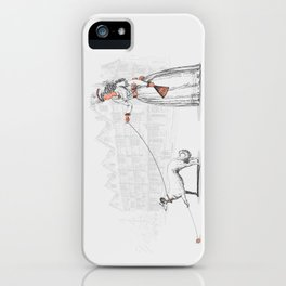 Walking The Dog iPhone Case