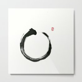 Zen Enso Metal Print