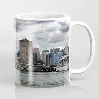vancouver Mugs featuring Vancouver Harbour by Anthony M. Davis