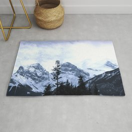 Mystic Three Sisters Mountains - Canadian Rockies Rug