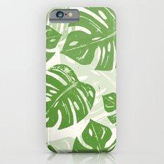 Linocut Monstera Leaf Pattern Slim Case iPhone 6s