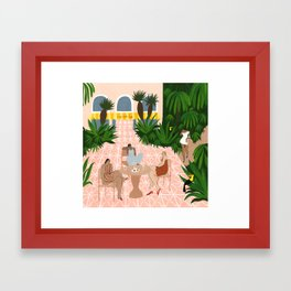 Au Café de la Jungle Framed Art Print