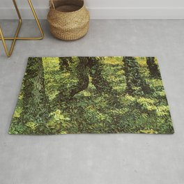 Trunks of Trees with Ivy Vincent van Gogh Rug
