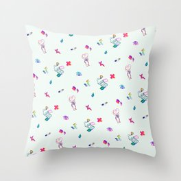 Medical Mania - White Throw Pillow