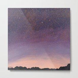 Purple Starscape PAINTING Metal Print