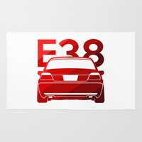 bmw Area & Throw Rugs featuring BMW E38 - classic red - by Vehicle