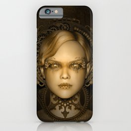 Steampunk female machine iPhone Case