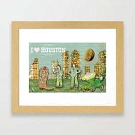 I Heart Houston Framed Art Print