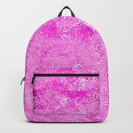 Neon Fuchsia Hot Pink Metallic Foil Backpack