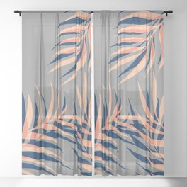 Palms Vision II #society6 #decor #buyart Sheer Curtain
