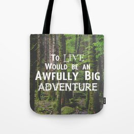 Peter Pan and Forrest Lands Tote Bag