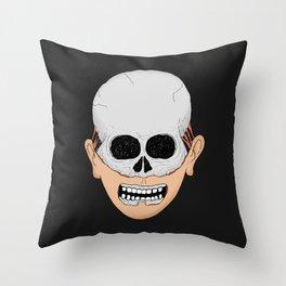 beardy skull Throw Pillow