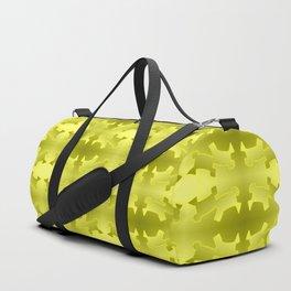 Pattern geometrical yellow 3d Duffle Bag