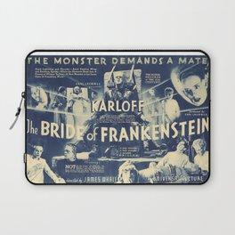 Bride of Frankenstein, vintage horror movie poster Laptop Sleeve