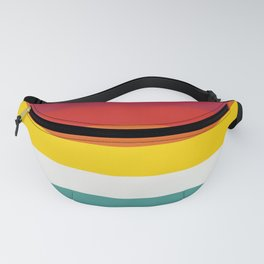 Multicolor Retro Stripes Trickster Fanny Pack