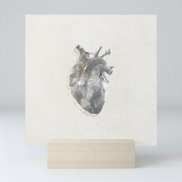 golden polygon heart Mini Art Print