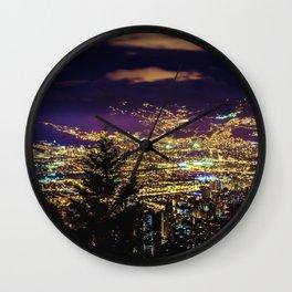 Medellin Night Moves Wall Clock
