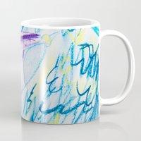 spaceship Mugs featuring Spaceship by SorinaBogiu