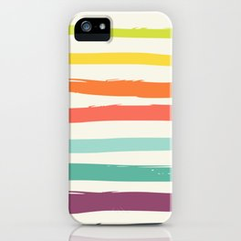 Colorful strokes ,rainbow iPhone Case