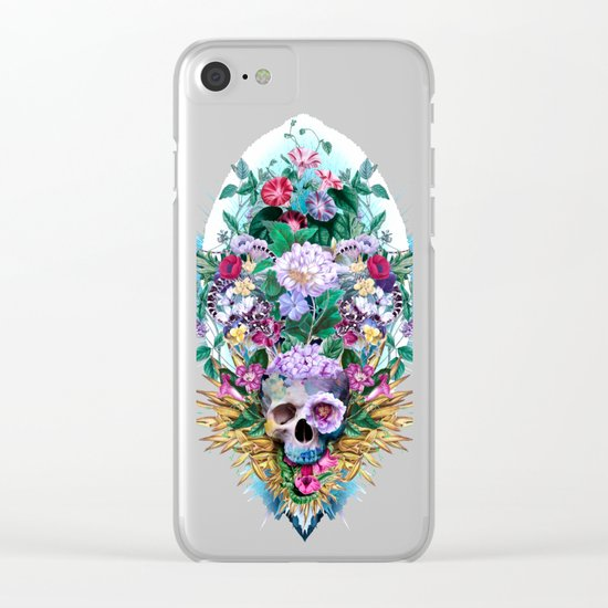 Skull Vivid VI Clear iPhone Case