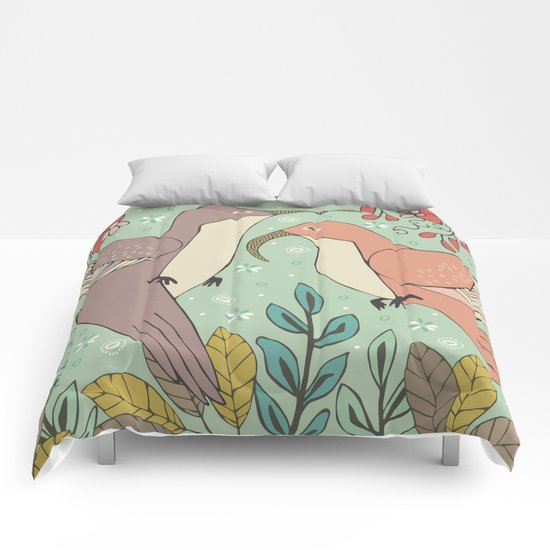 Dancing Hummingbirds Comforters