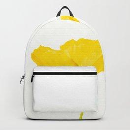 Yellow Poppy White Background #decor #society6 #buyart Backpack