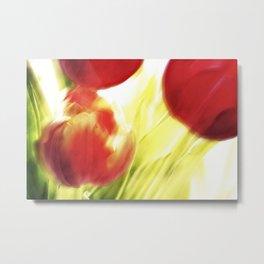 Tulips In Motion Metal Print