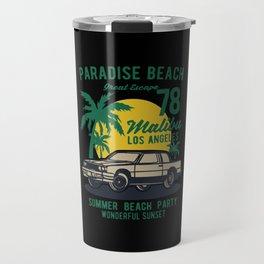 paradise beach Travel Mug