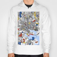 baltimore Hoodies featuring Baltimore Mondrian by Mondrian Maps
