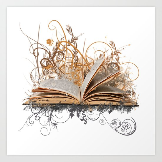BLOOMING BOOK Art Print