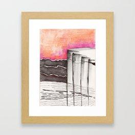 rock Framed Art Print