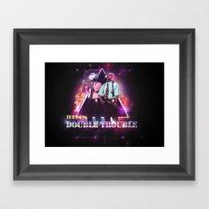 Love 80s Title Art Framed Art Print