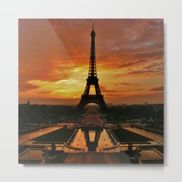 SUNSET THE TOWER EIFFEL Metal Print