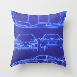 Supra Mk4 Throw Pillow