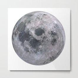 Moon Grey scale Metal Print