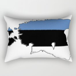 Estonia Map with Estonian Flag Rectangular Pillow